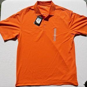 Nike short sleeve medium orange golf shirt.